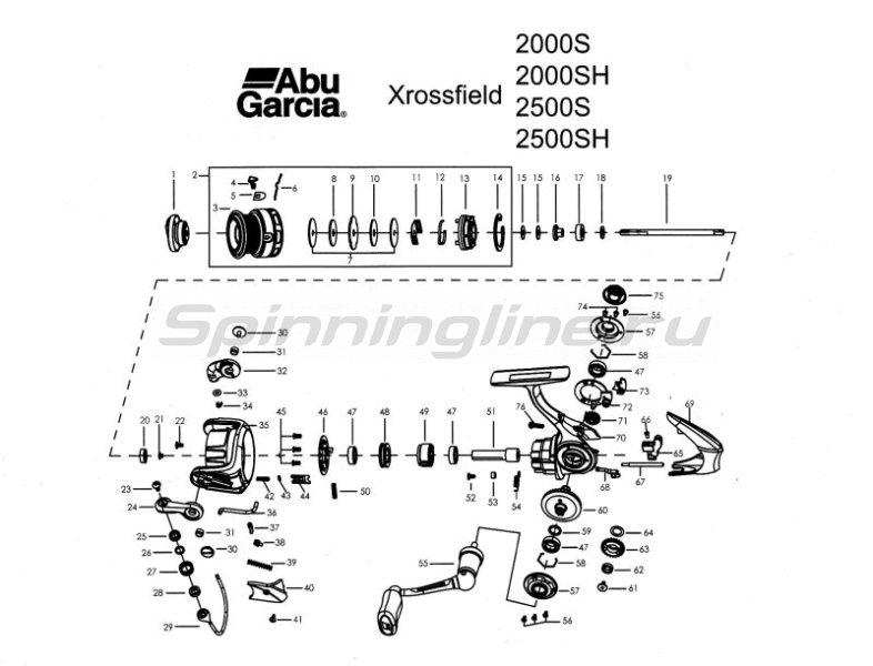 Катушка Xrossfield 2500S -  3