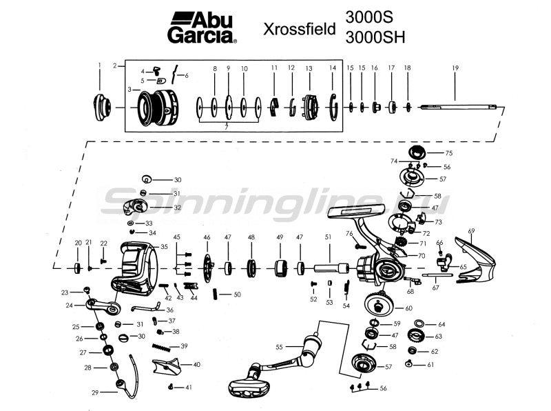 Катушка Xrossfield 3000S -  4