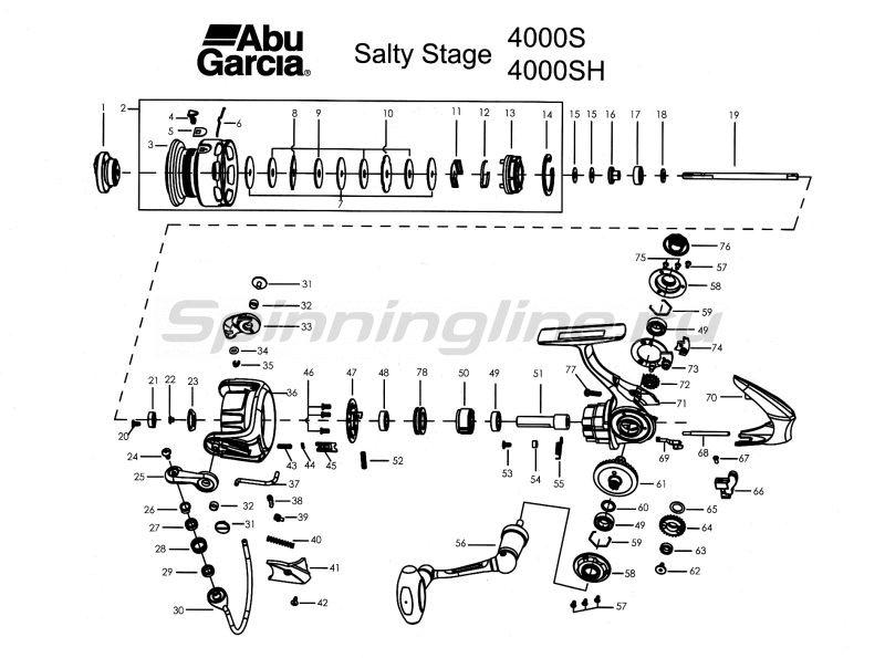 Катушка Abu Garcia Salty Stage 4000S -  5