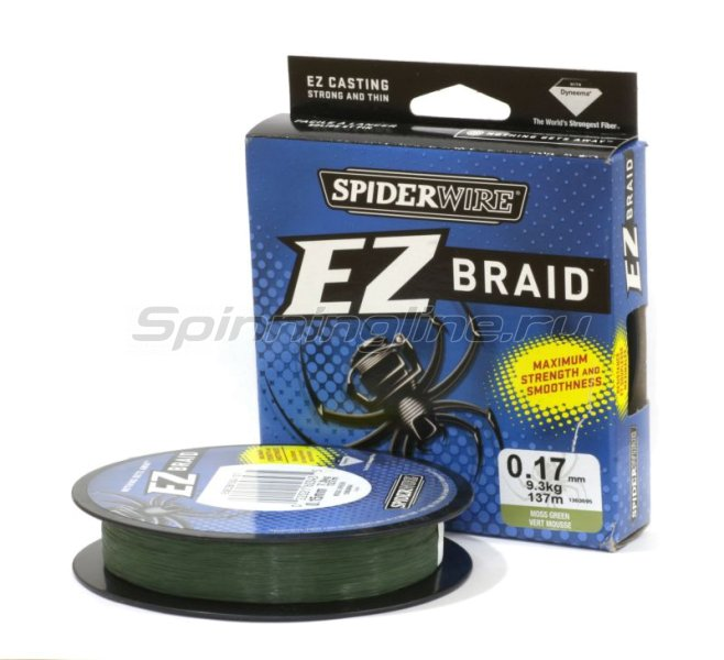 Spiderwire - Шнур EZ Braid 137м 0,17мм Green - фотография 1