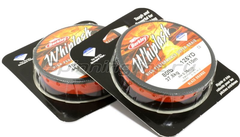 Berkley - Шнур Whiplash Orange 110м 0.25мм - фотография 2