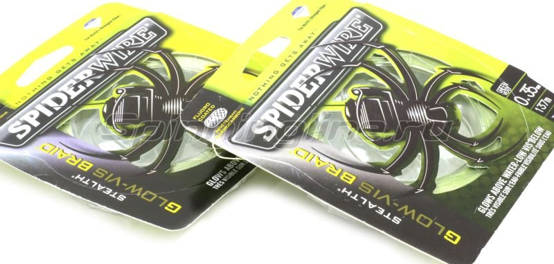 Spiderwire - Шнур Stealth Glow-Vis Braid new 137м 0,17мм - фотография 2