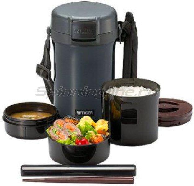 Tiger - Термос для еды с контейнерами LWU-A201 Charcoal Grey - фотография 1