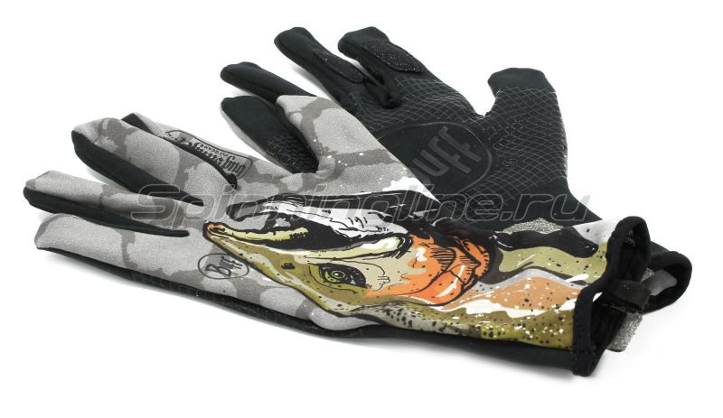 Перчатки Buff MXS Gloves BS Steelhead M-L -  5