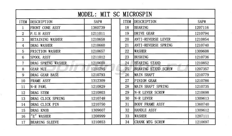 Катушка Mitchell Microspin -  8