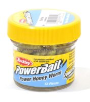 Приманка Powerbait Honey Worms 25 yellow