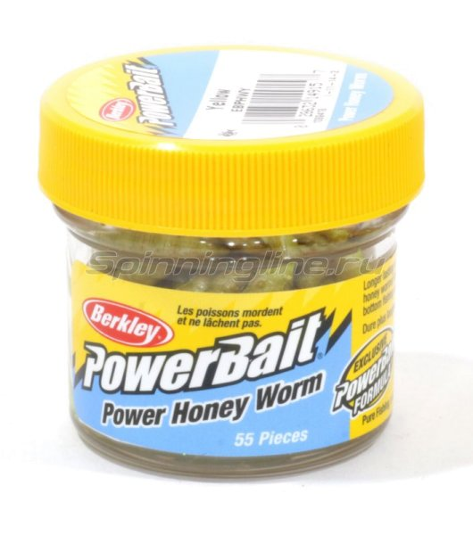 Приманка Powerbait Honey Worms 25 yellow -  1