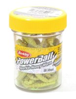 Приманка Powerbait Honey Worms 25 yellow scales