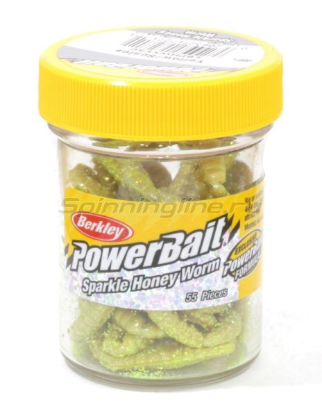 Berkley - Приманка Powerbait Honey Worms 25 yellow scales - фотография 1