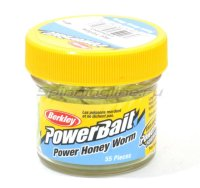 Приманка Powerbait Honey Worms 25 hot yellow