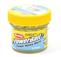Приманка Berkley Powerbait Honey Worms 25 hot yellow