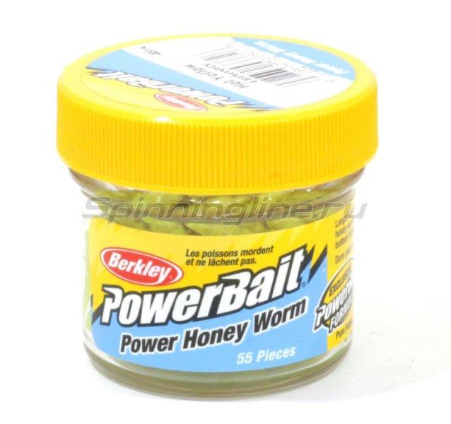Приманка Powerbait Honey Worms 25 hot yellow -  1