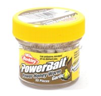 Приманка Powerbait Honey Worms 25 garlic white