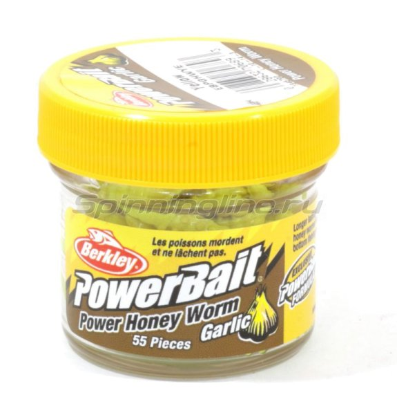 Berkley - Powerbait Honey Worms 25 garlic yellow - фотография 1