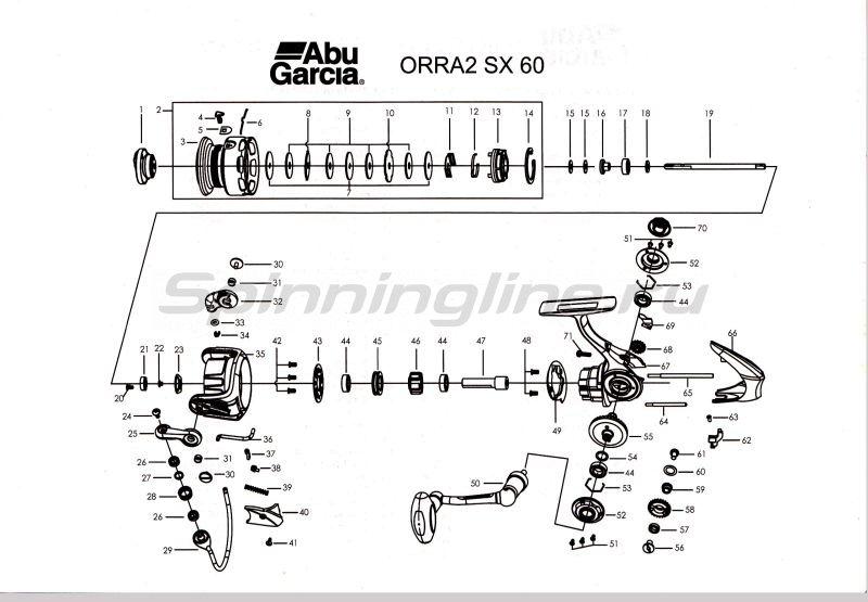Abu Garcia - Катушка Orra 2 SX 60 - фотография 4
