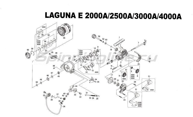 Катушка Laguna E 4000A -  5