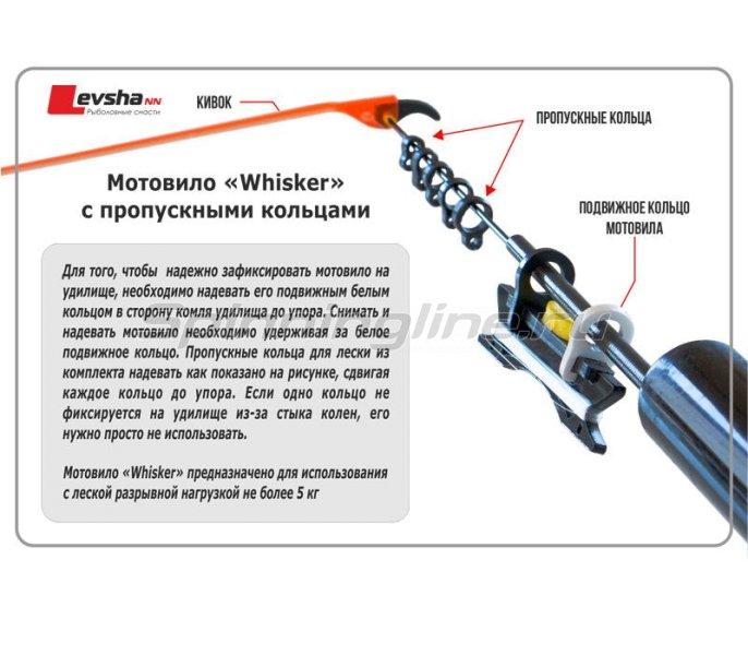 Мотовило Whisker 12см + пропускные кольца для лески -  2