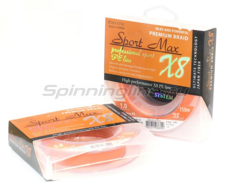 Шнур Mystic Sport Max x8 150м 0,17мм -  1