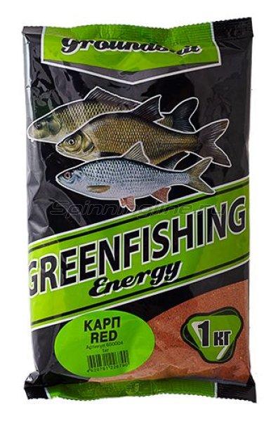 Прикормка Greenfishing Energy Карп red 1кг. -  1
