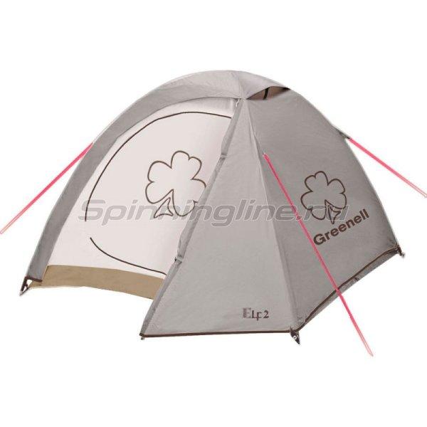 Палатка туристическая Эльф 2 V3 коричневый -  1