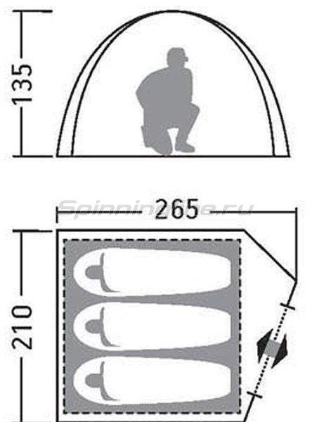 Палатка туристическая Эльф 3 V3 коричневый -  2