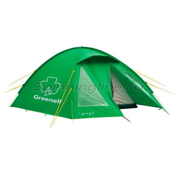 Greenell - Палатка туристическая Керри 3 V3 зеленый - фотография 1