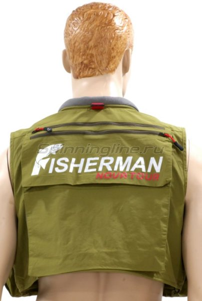 Fisherman - Nova Tour - Жилет рыболовный Профи XS - фотография 3