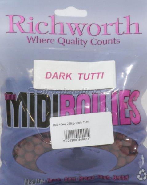 Richworth - Бойлы Midi 10мм 270гр Dark Tutti - фотография 1