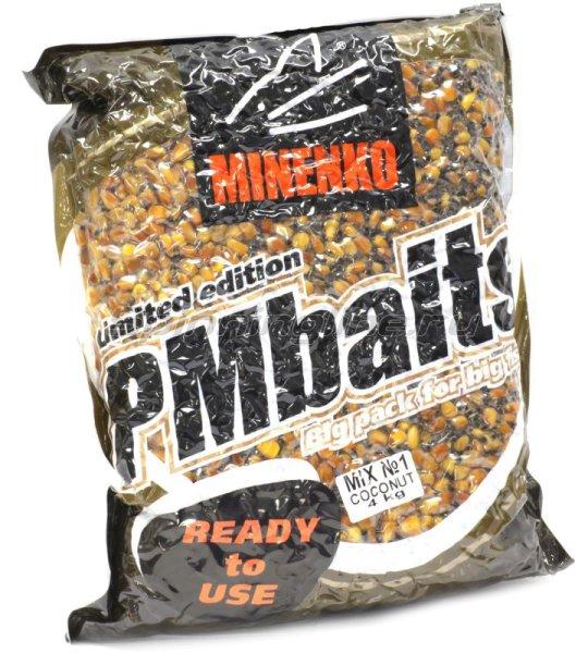 Minenko - Зерновая прикормка PMBaits Ready to use mix №1 Coconut 4кг. - фотография 1