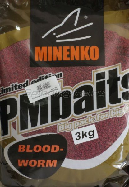 Minenko - Прикормка PMBaits Carp Bloodworm 3кг. - фотография 2