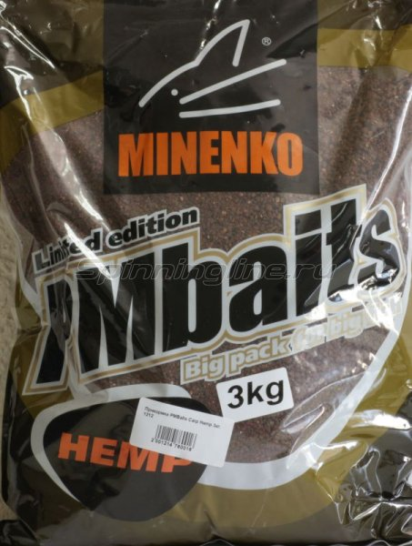 Minenko - Прикормка PMBaits Carp Hemp 3кг. - фотография 1