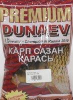 Прикормка Dunaev Premium 1кг Карп-Сазан-Красный