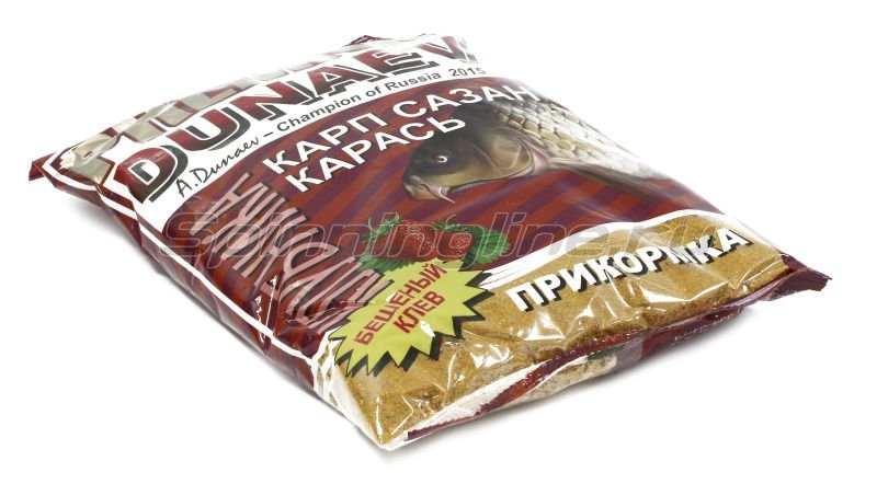 Прикормка Dunaev Premium 1кг Карп-Сазан Клубника - фотография 1