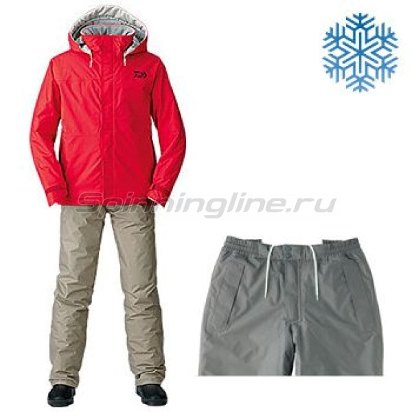 Костюм Daiwa Rainmax Winter Suit Red XXXXL -  1