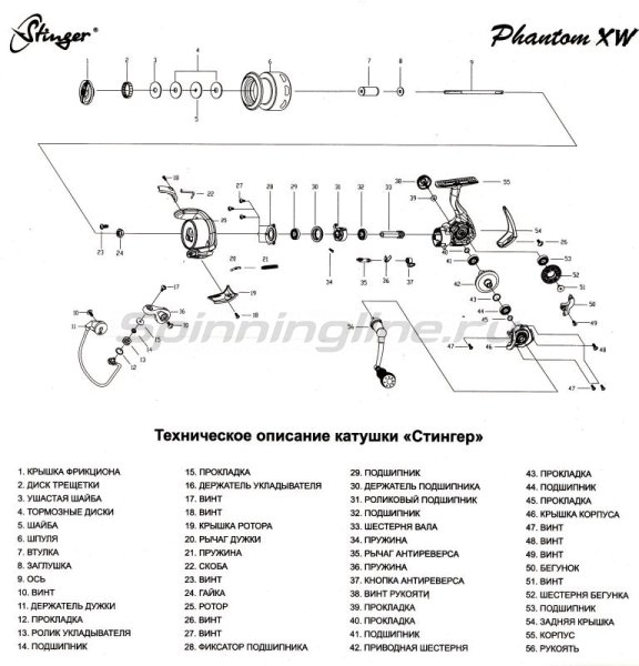 Stinger - Катушка ForceAge XW 2500 - фотография 5