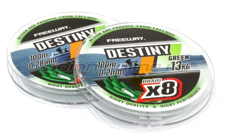 Freeway - Шнур Destiny Gray x8 100м 0,20мм - фотография 1