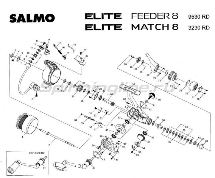 Катушка Elite Match 8 30RD -  4