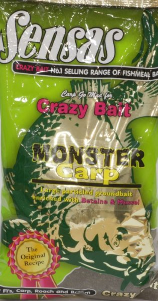Прикормка Sensas Crazy Bait Monster Carp 1кг - фотография 1