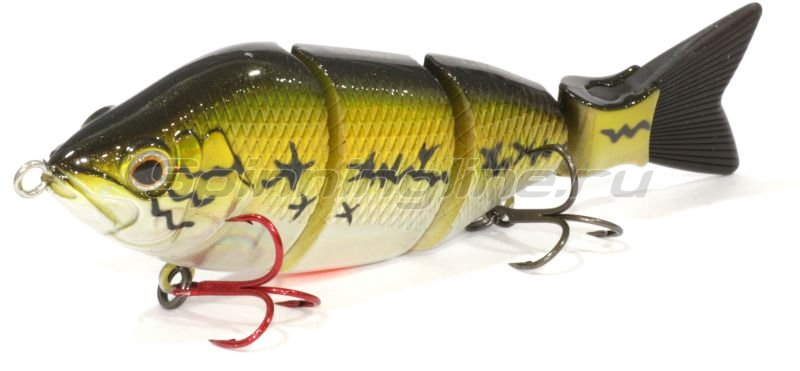 Fox Rage - Воблер Hitcher Lipless Jointed 100S Baby Bass inc black/red tail - фотография 1