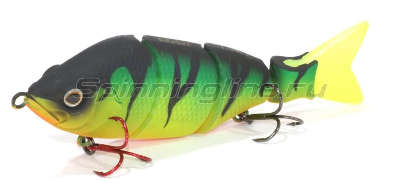 Fox Rage - Воблер Hitcher Lipless Jointed 100S Fire Tiger inc green/red tail - фотография 1