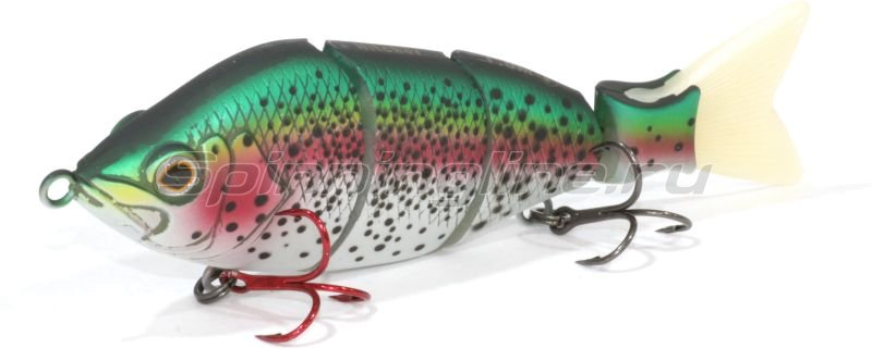 Воблер Hitcher Lipless Jointed 100S Rainbow Ttout inc white/red tail -  1