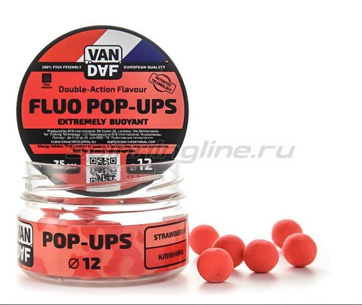 Бойлы Pop-Up Van Daf Клубника 12мм - фотография 1