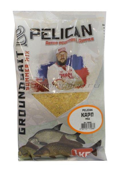 Прикормка Pelican Карп Мед -  1