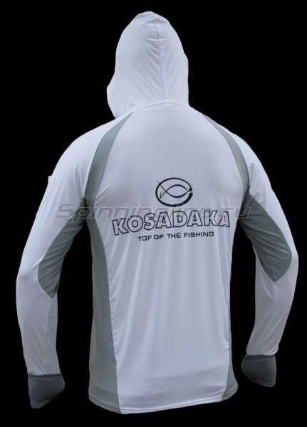 Футболка Kosadaka Ice Silk Sunblock белая р.L -  2