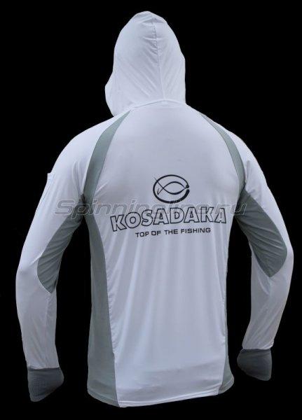 Футболка Kosadaka Ice Silk Sunblock белая р.S -  2