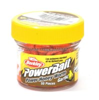 Приманка Powerbait Honey Worms 25 garlic orange