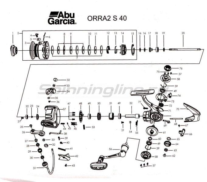 Abu Garcia - Катушка Orra 2 S 40 - фотография 4