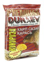 Прикормка Dunaev Premium 1кг Карп-Сазан Кукуруза