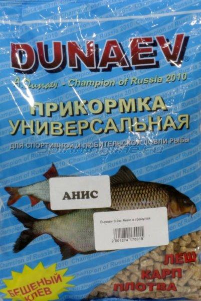 Прикормка Dunaev 0.9кг Анис в гранулах - фотография 1