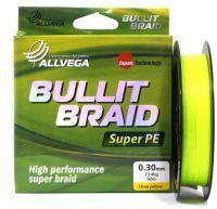 Плетеный шнур Allvega Bullit Braid Hi-Vis Yellow 92